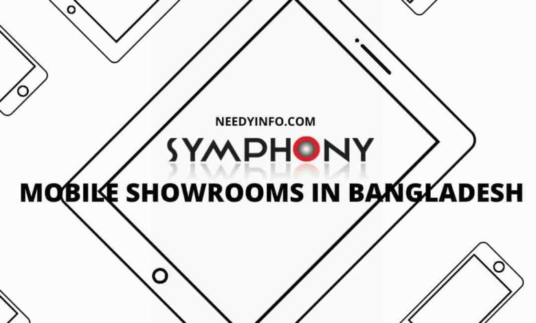 symphony Mobile Showrooms in Bangladesh